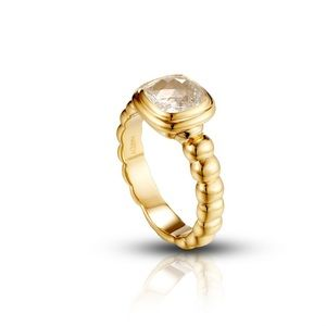John Hardy  Slim Band White Topaz 18K Gold 7.5